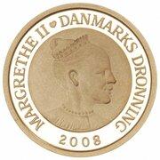 1000 Kroner - Margrethe II (4th Portrait- Sirius - Gold issue) – avers