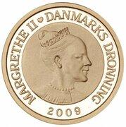 1000 Kroner - Margrethe II (4th Portrait- Northern Light - Gold issue) – avers