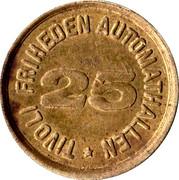 "Tivoli Friheden ""25""  Token – avers"