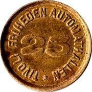 "Tivoli Friheden ""25""  Token – revers"