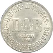 Vending Machine Token - DAB (Dansk Automat Brancheforening; Non-magnetic) – avers