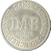 Vending Machine Token - DAB (Dansk Automat Brancheforening; Non-magnetic) – revers