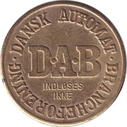 Vending Machine Token - DAB (Dansk Automat Brancheforening) – revers