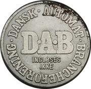 Vending Machine Token - DAB (Dansk Automat Brancheforening) – avers