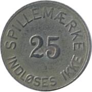 25 Spillemærke - Indløses Ikke – avers
