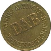 Vending Machine Token - DAB (Dansk Automat Brancheforening; Brass) – revers