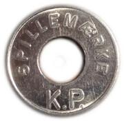 25 Spillemærke - K.P. – avers