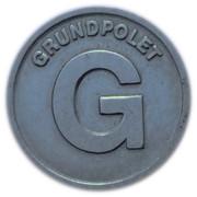 Jeton - Hovedstadsområdets Trafikselskab Grundpolet (Copenhagen) – revers