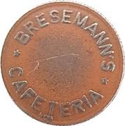 25 Spillemærke - Bresemann's Cafeteria – avers