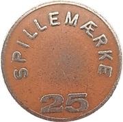 25 Spillemærke - Bresemann's Cafeteria – revers