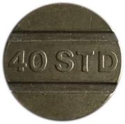 Jeton de téléphone - 40 STD (Raised lettering) – avers