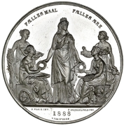 Medal - Nordic Exhibition in Copenhagen – avers