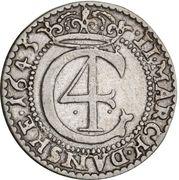 2 Mark Dansk - Christian IV (Hebræermønt) – avers