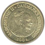 10 kroner - Margrethe II (4e effigie, 2eme armoiries) -  avers