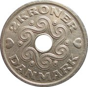 2 kroner - Margrethe II -  revers