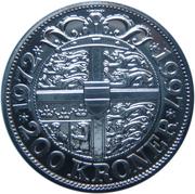 200 kroner - Margrethe II (jubilé d'argent) – revers