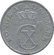 5 øre - Christian X -  avers