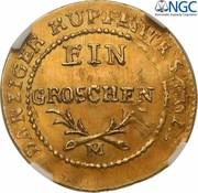 1 Grosz - Friedrich Wilhelm III (Or) – revers
