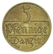 5 Pfennige (Trial Strike) – revers