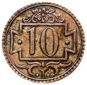 10 Pfennig (no date) – revers