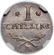 1 Schilling - Marshal Lefebvre (French Occupation Ag) – revers