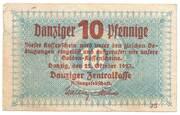 10 Pfennige – avers