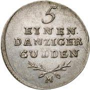 1/5 Gulden - Marshal Lefebvre (French Occupation, Trial Strike) – revers