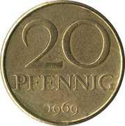 20 pfennig -  revers
