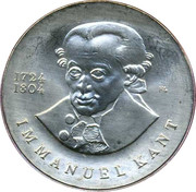 20 marks Emmanuel Kant – revers