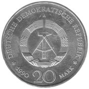 20 Mark Porte de Brandebourg (argent) -  avers