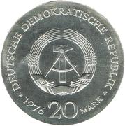 20 Mark (Wilhelm Liebknecht) – avers