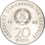 20 Mark (Martin Luther) – avers