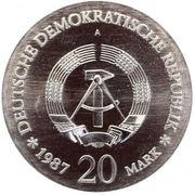 20 Mark (750 ans de la ville de Berlin) – avers