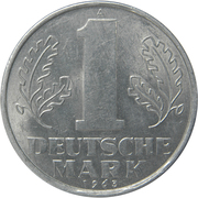 1 deutsche mark -  revers