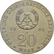 20 Mark (Georg Friedrich Händel) – avers