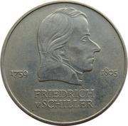 20 marks Friedrich von Schiller -  revers