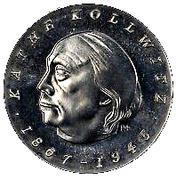 1 Mark (Käthe Kollwitz, Probe) – avers