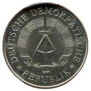 5 Mark (20 ans de la RDA) - Cuivre-nickel – avers