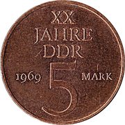 5 marks 20 ans RDA -  revers