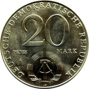 20 Mark (30 Years of DDR - Probe) – avers