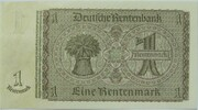 1 Deutsche Mark (overstamped) – revers