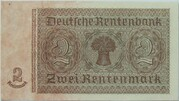 2 Deutsche Mark (overstamped) – revers