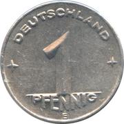 1 pfennig -  revers
