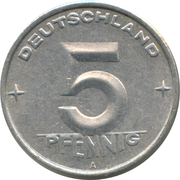 5 pfennig -  revers