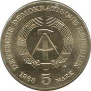 5 marks Robert Koch – avers