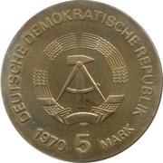 5 marks Wilhelm Conrad Röntgen – avers
