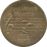 5 marks Johannes Brahms – revers