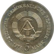 5 Mark (Friedrich Gottlieb Klopstock) – avers