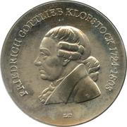 5 Mark (Friedrich Gottlieb Klopstock) – revers
