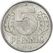 5 Pfennig (Pattern) – revers